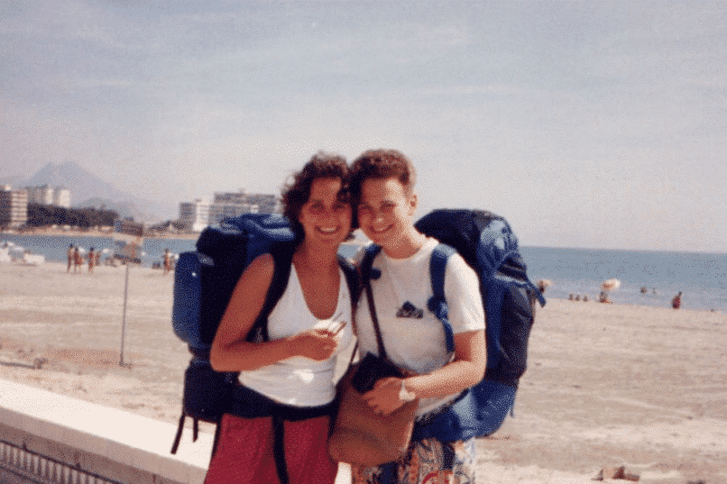 Anne and Shelly backpacking