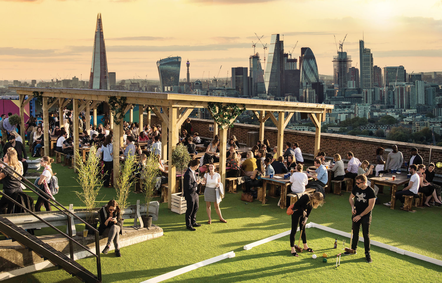 Rugby World Cup at Skylight Rooftop | Clink Hostels