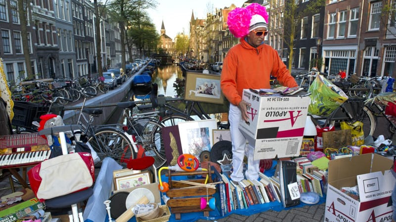 Flea Market Amsterdam How to make the most of kings day Clink Hostels