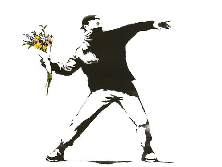 """Banksy """"Laugh Now"""" at Moco Museum Amsterdam 