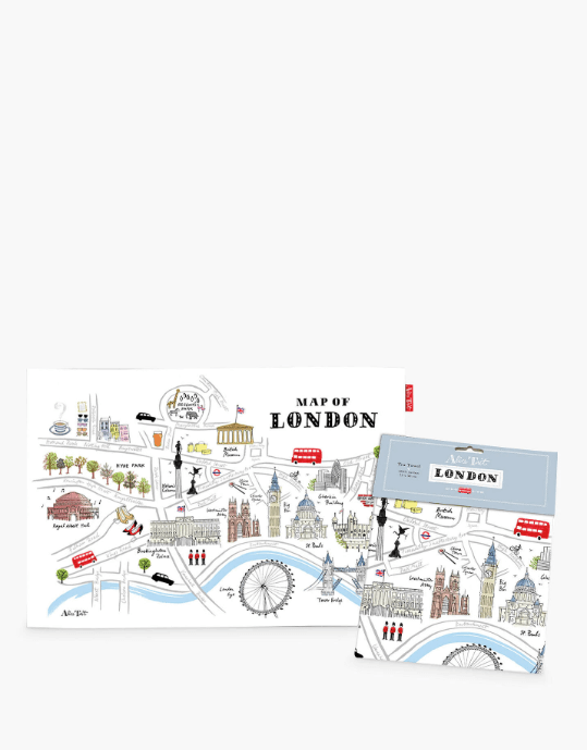 Best gifts from London print tea towel